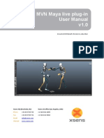 MVN Maya Live Plug-In User Manual