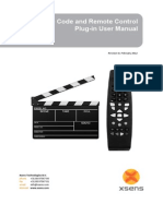 MVN Time Code and Remote Control Plug-In User Manual