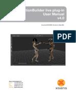MVN Motion Builder Live Plug-In User Manual