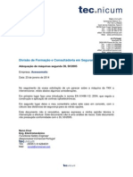 Relatório YKK 23-01-2014
