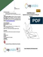 Díptico Curso Geometría Plana II Octubre2014