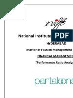 Pantaloons Ratio analysis
