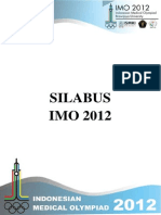 Silabus Indonesian Medical Olympiad (IMO) 2012