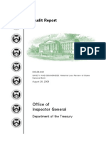 U.S. Treasury Department's Inspector General Report