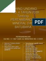 Perbandingan UU No 11 Tahun 1967 Dengan Uu No 4 Tahun 2009