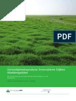 Gevoeligheidsanalyse innovatieve dijken waddengebied. Een verkenning naar de meest kansrijke dijkconcepten voor de Waddenkust.