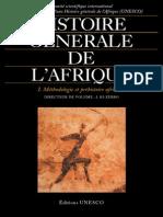 Histoire Générale de l'Afrique I - Méthodologie Et Préhistoire Africaine