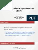 01_İngilizce Akademik Yayın Hazırlama Genel Sunum (Teoman TÜRELİ)