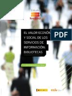 El valor económico y social de los servicios de información