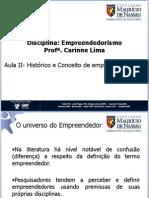Empreendedorismo II Conceitos e Historico