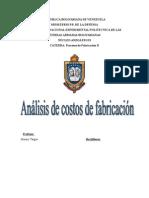 proyecto ANALISIS DE COSTOS DE FABRICACION.doc