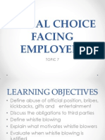 Topic 7 Moral Choice Facing Employees