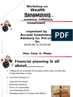 Work Shop on Wealth Management