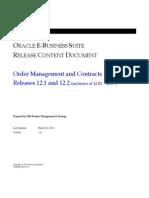 RCD - Order Management R12.1 & 12.2
