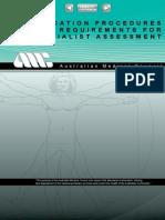 Application Procedures Spec Assessment