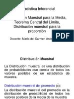 3_Clases de Estadística Distrib Muestral de Medias TLC Propor Propied Esti