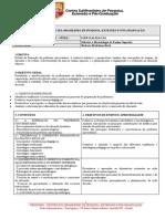 1 Programa Da Disciplina de Didatica e Metodologia Do Ensino Superior