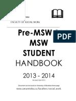 Pre-MSW__MSW_Handbook_2013-2014(2)
