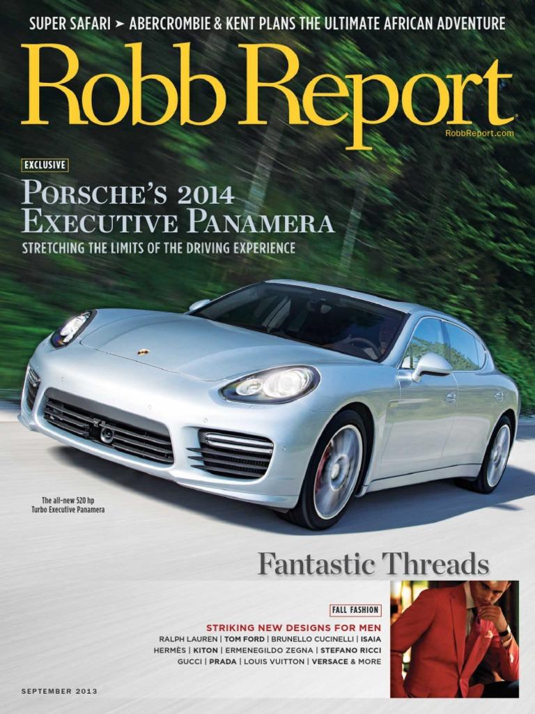 Robb Report - September 2013 USA | Watch | Fashion
