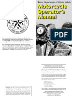 Texas DPS Motorcycle Operators Manual