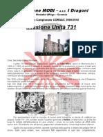 Book prima tappa campionato CORSAC 2009-10 - Unità 731