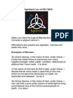 The Spiritual Law of DECREE