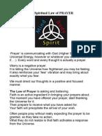 The Spiritual Law of PRAYER