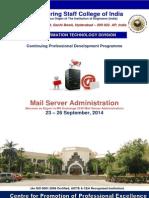 Mail Server Administration 23 -26 Sept 2014 Brochure