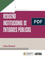 Rediseño Institucional de Entidades Publicas