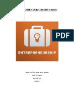 Entrepreneur Observation [I Wayan Bagus Surya Murtika] [19714088]
