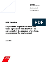 Official DGB Possition on TTIP