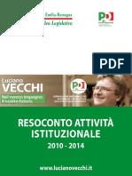 Rendiconto Luciano Vecchi 2010-2014