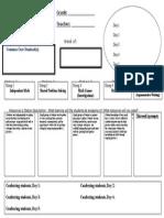 balanced math planning template