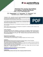 Seminar Berlin Journalists