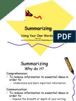 summarizing 2 ppoint