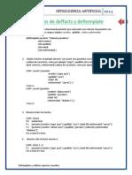 Ejercicios Deftemplates y Deffacts