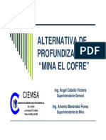 Alternativa de Profundizacion Mina El Cofre 1