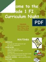 curriculum night grade 1fi-2014