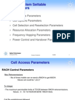 GSM tuning parameters