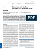 XPS analysis of aluminum nitride films deposited by plasma source molecular beam epitaxy