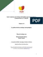 Suarez & Azaola Policia Desde Perspectiva Antropologica 2006