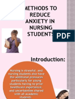 Methods to Reduce Anxiety in Nursing Students