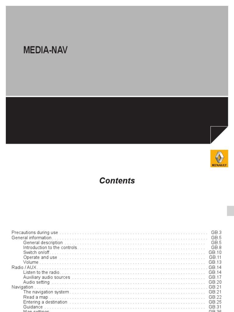 Dacia Duster Facelift MediaNav | Radio | Usb