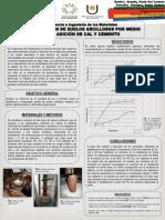 Estabilización de Suelos Arcillosos Por Medio de La Adición de Cal y Cemento