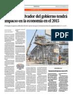 Plan Reactivador Del Gobierno Tendrá Impacto en La Economía en El 2015_El Comercio 24-09-2014
