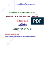 Current Affairs Aug 2014 Second Week