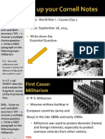 WEBNotes - Day 1 - 2014 - WorldWarI - Causes I