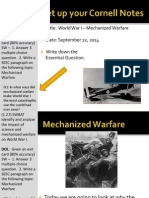 WEBNotes - Day 3 - 2014 - Mechanized Warfare