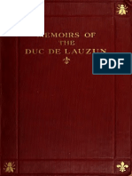 Memoirs of Duc de Lauzan