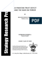 US Pakistan-Rizwan-Akhtar Trust Deficit and the War on Terror by Rizwan Akhtar